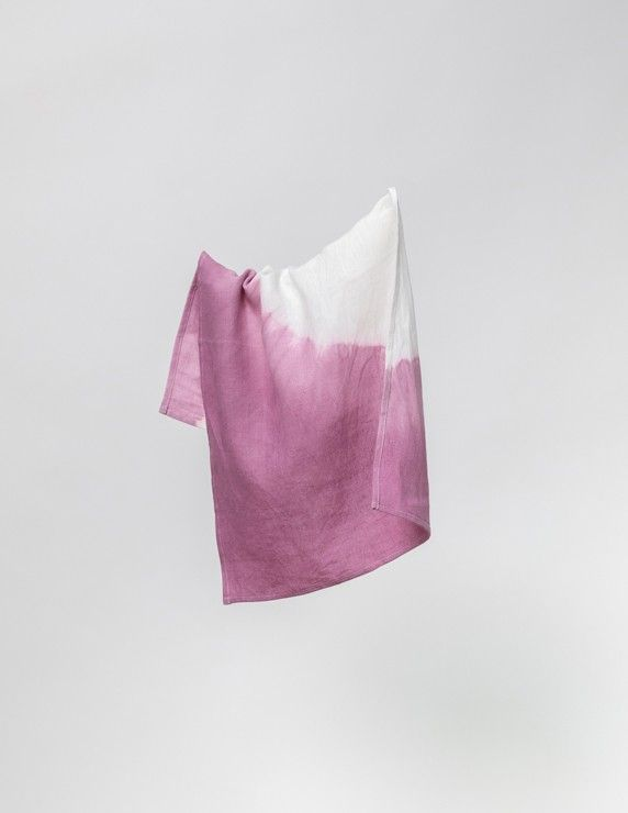 Water wave tea towel mauve
