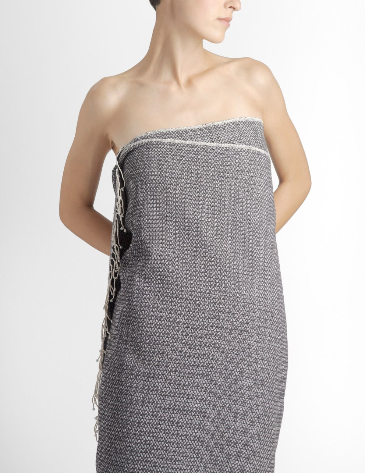 Bath Towel Organic Grey